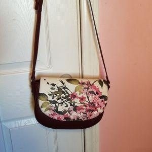 Painted flowers bag